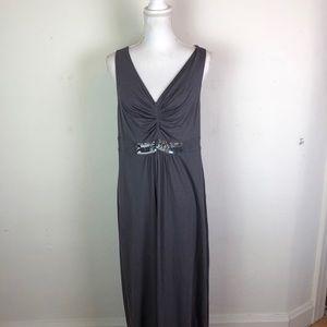 Boden Maxi Dress Faux Jewel Embellished Waist 10L